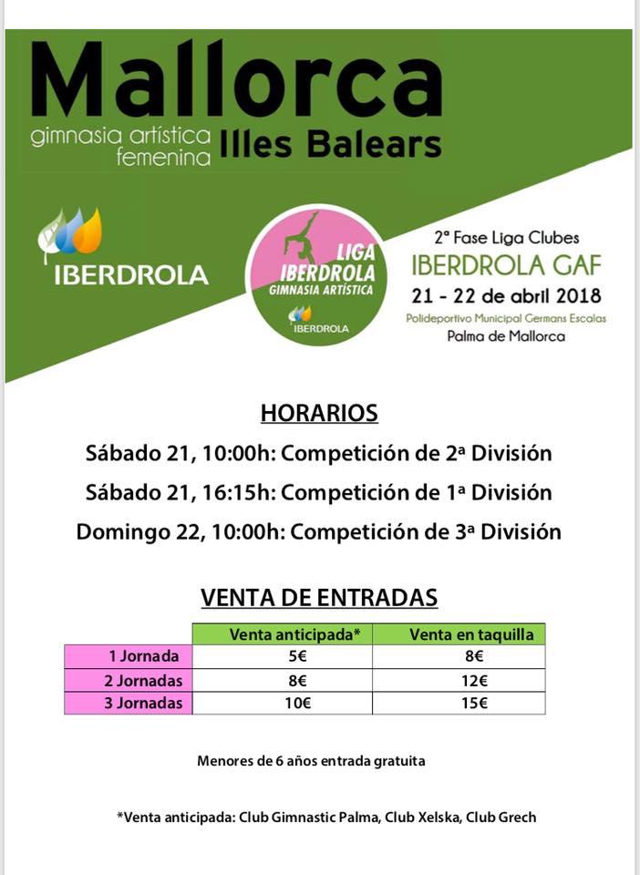 Liga Iberdrola Calendario.Liga Iberdrola De Gimnasia Artistica Federacion De Gimnasia De Las